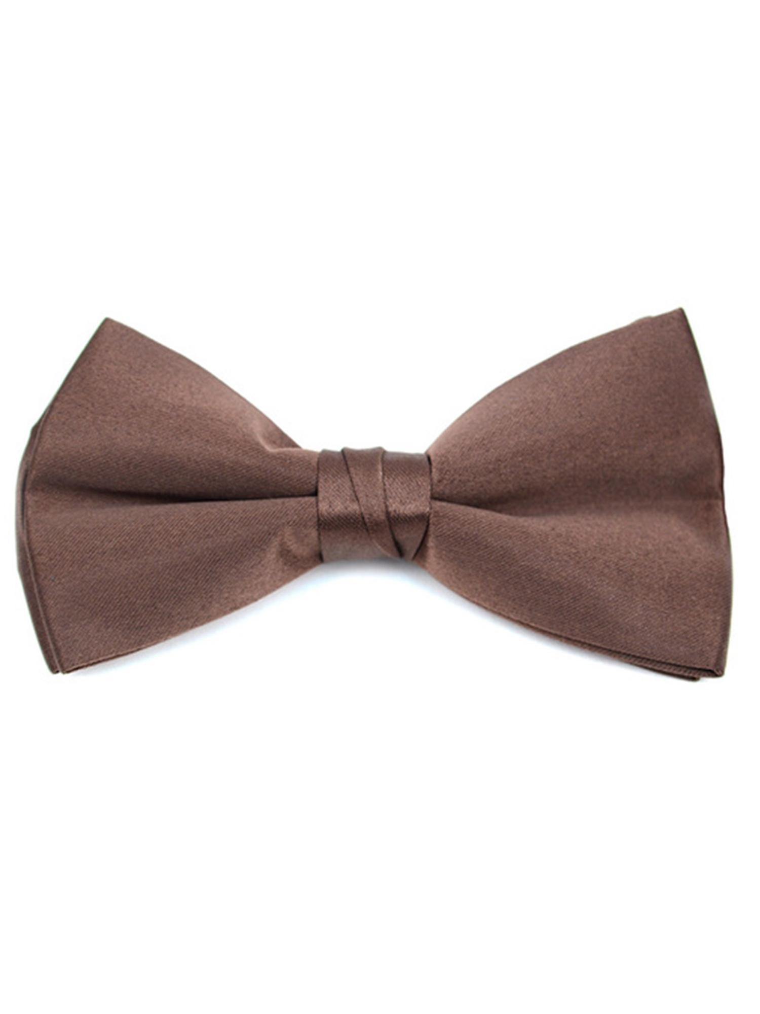 Young Boy's Pre-tied Adjustable Length Bow Tie - Formal Tuxedo Solid Color