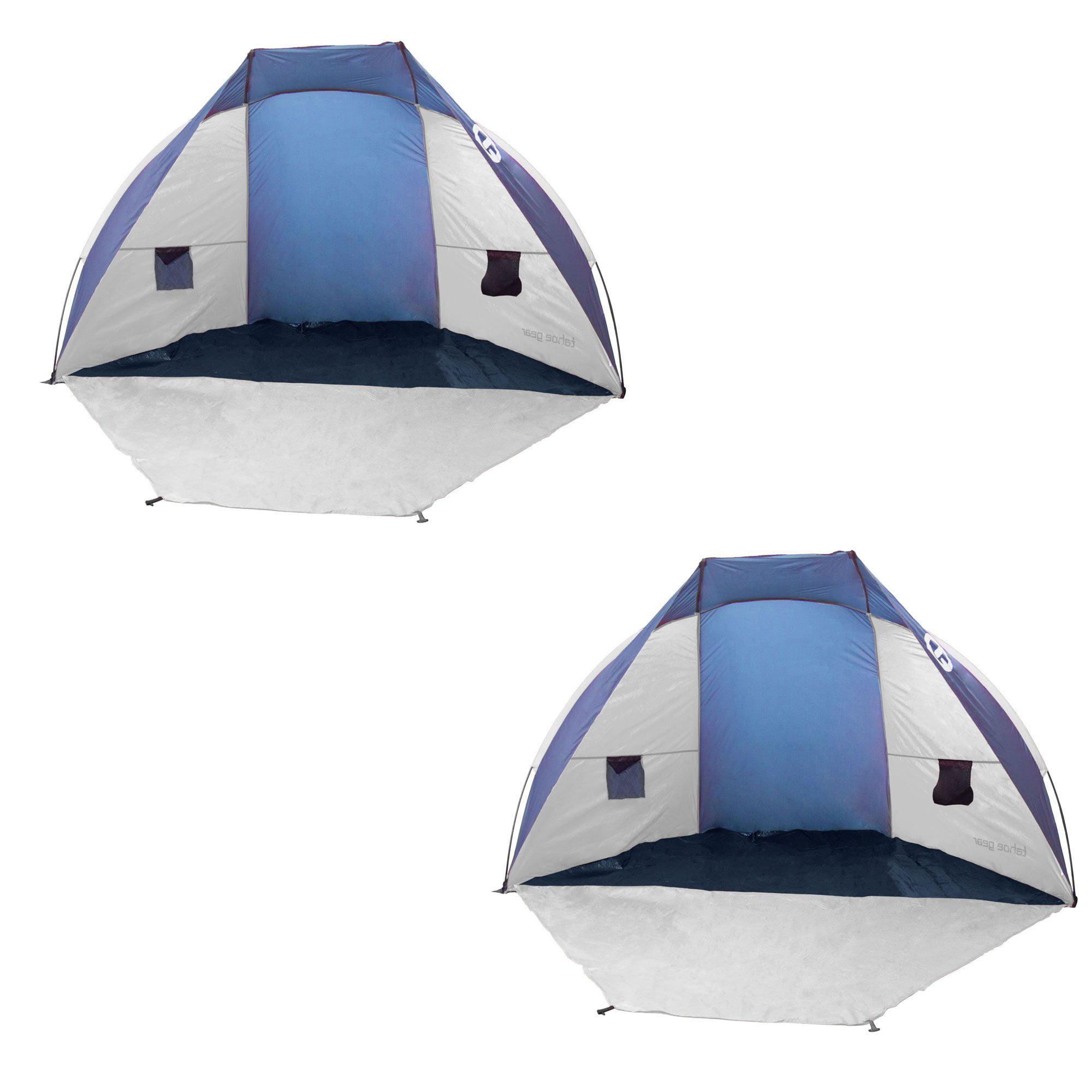 Tahoe Gear Cruz Bay Summer Sun Shelter and Beach Shade Tent Canopy (2 Pack)