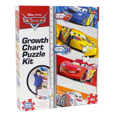 Disney 50 Piece Cars Growth Chart Puzzle, Complete the puzzle to mark your height By Orange Onions Ship from US](50 Piece Puzzles)