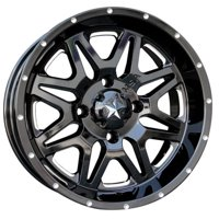 4/137 Motosport Alloys M26 Vibe Wheel 14x7 3.5 + 3.5 Machined/Black for Can-Am Outlander 800 H.O. 2007