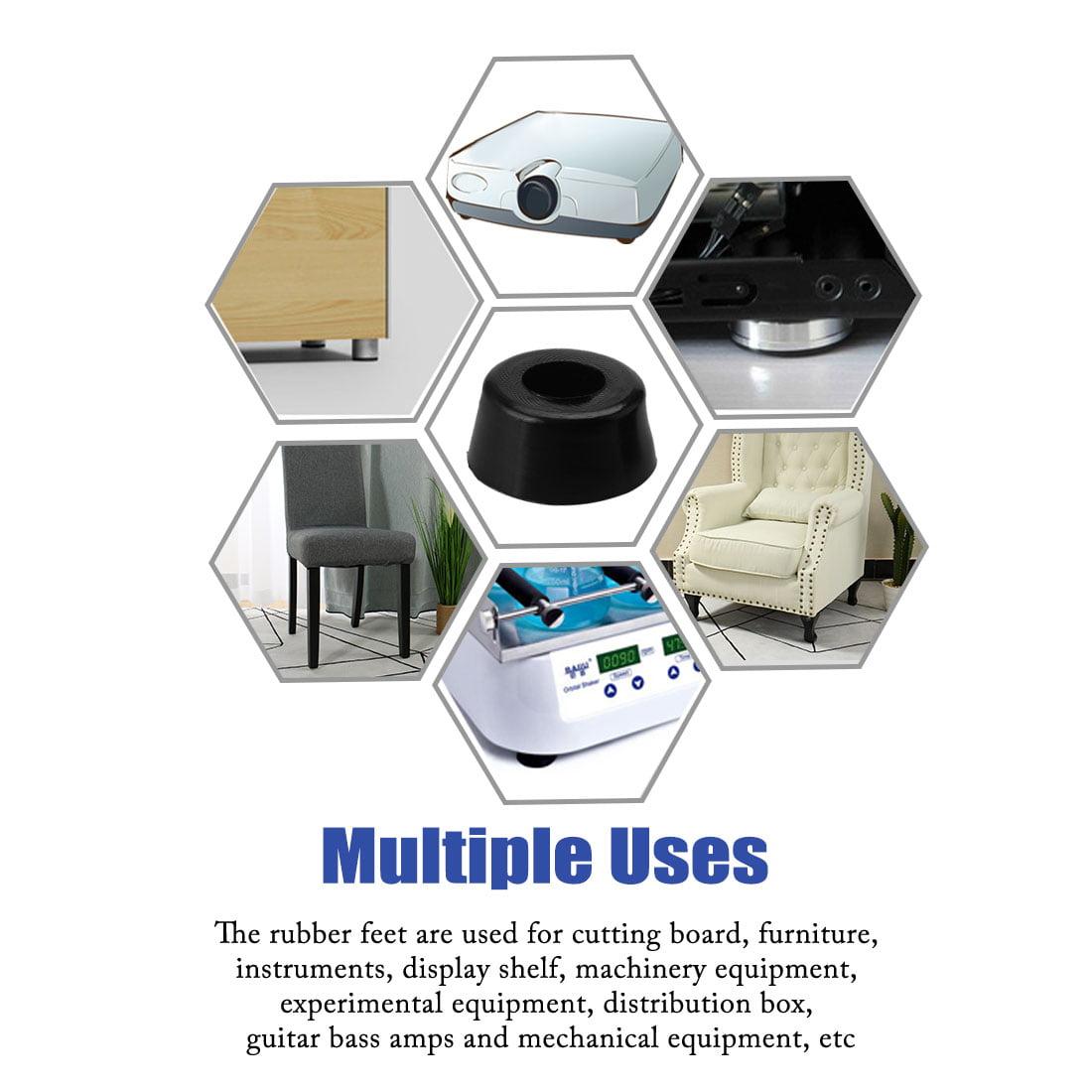 5pcs Rubber Feet Bumper Amplifier Speaker Cabinet Leg Pads,  D17x15xH8mm - image 2 of 7