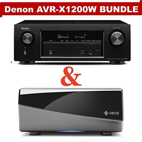 Denon AVR-X1200W 7.2 Channel Full 4K Ultra HD A/V Receiver (Bluetooth/Wi-Fi/Apple AirPlay/Dolby Atmos) NOW WITH HEOS
