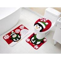 VCNY 3 Piece Christmas Characters Bath Rug Set