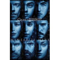 Game of Thrones Season 7 Winter Is Here Faces TV Show Poster 24x36 inch
