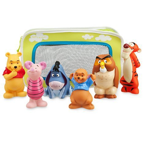 Winnie the Pooh and Pals Bath Toy Set in Zipped Bag Winnie the Pooh, Tigger, Eeyore, Piglet, Owl, and Roo by Disney