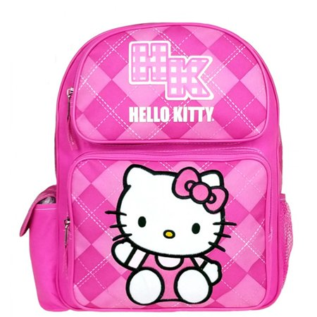 Hello Kitty Argyle Pink Medium Backpack #82079