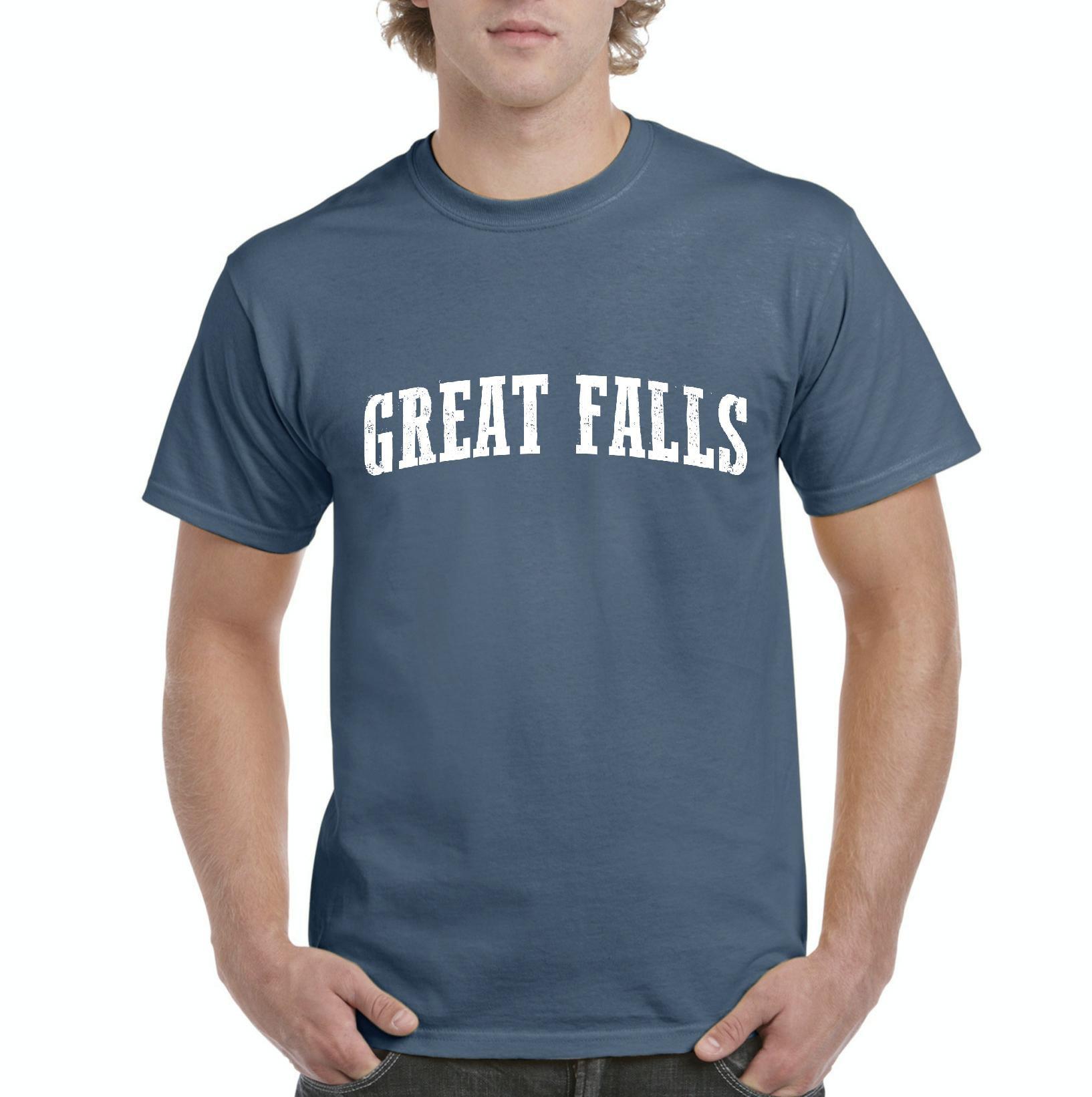 Great Falls Montana T-Shirt Home of University of Montana and UM Grizzlies and Lady Griz  Artix Mens Shirts