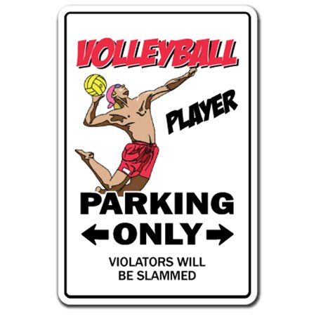 Volleyball Player Novelty Sign | Indoor/Outdoor | Funny Home Décor for Garages, Living Rooms, Bedroom, Offices | SignMission Sport Team Beach Coach Volley Ball Player Game Sign Wall Plaque