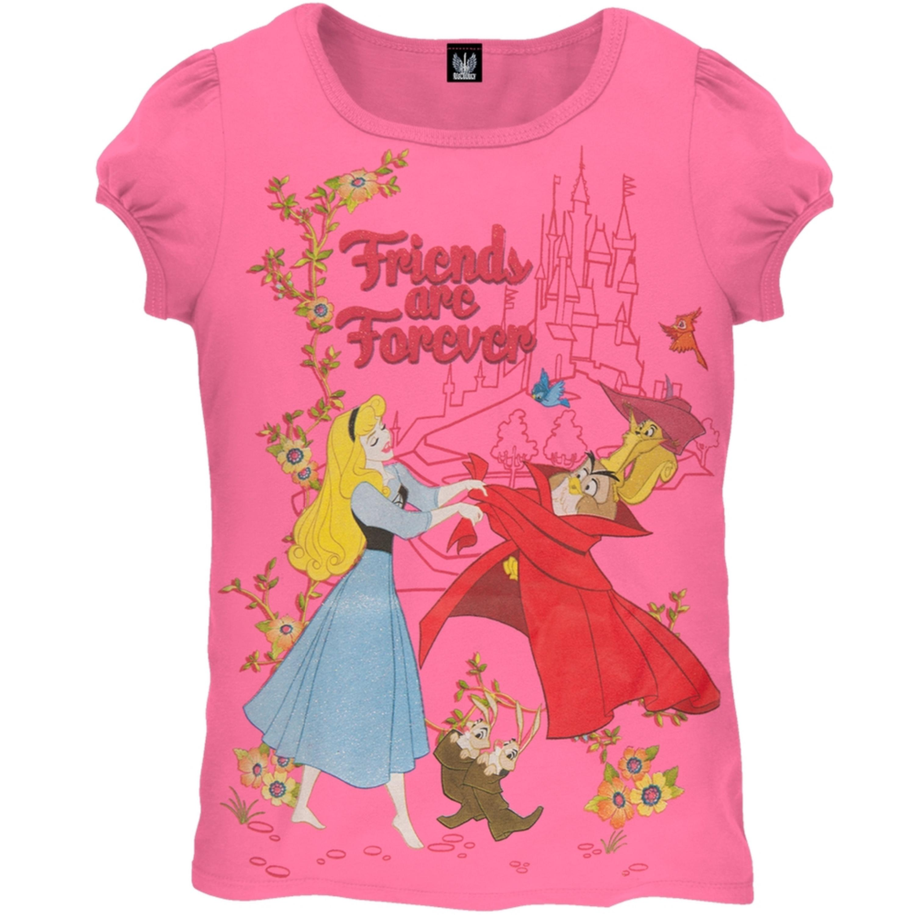 Disney Princesses - Friends Forever Girls hot pink Juvy T-Shirt