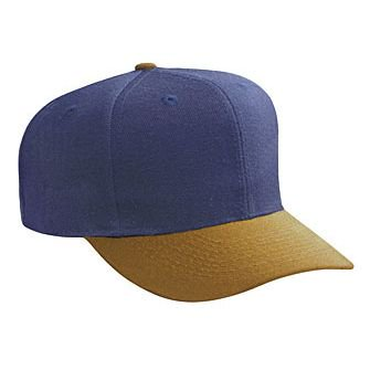 OTTO Wool Blend 6 Panel Pro Style Baseball Cap - Dk.Crml/Nvy