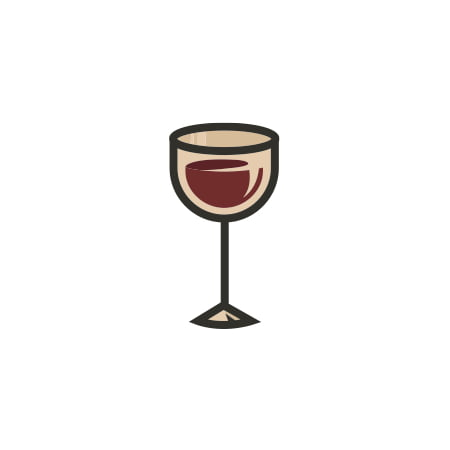 Glass of Wine Vintage Retro Wall Decor Bar Decorations Alcohol Cutout - Retro Decorations