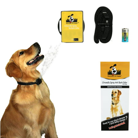 Citronella No Bark Automatic Gentle Spray, Humane No Shock Collar, Anti-bark with Advanced Bark Detection (Excludes Citronella Spray