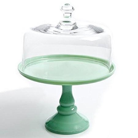The Pioneer Woman Timeless Beauty 10 Cake Stand with Glass Cover, Glass construction, Green and Clear (1) - Pioneer Woman Halloween Cake Balls