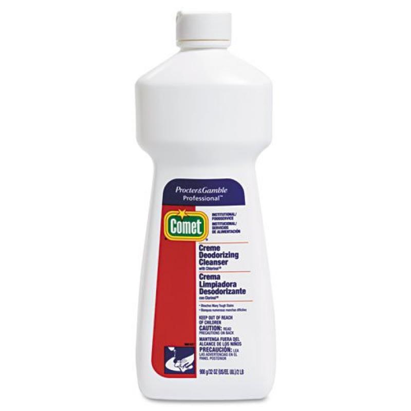 Comet Cleanser w Chlorinol, Creme, 32oz. Bottle nine bottles of cleanser. by