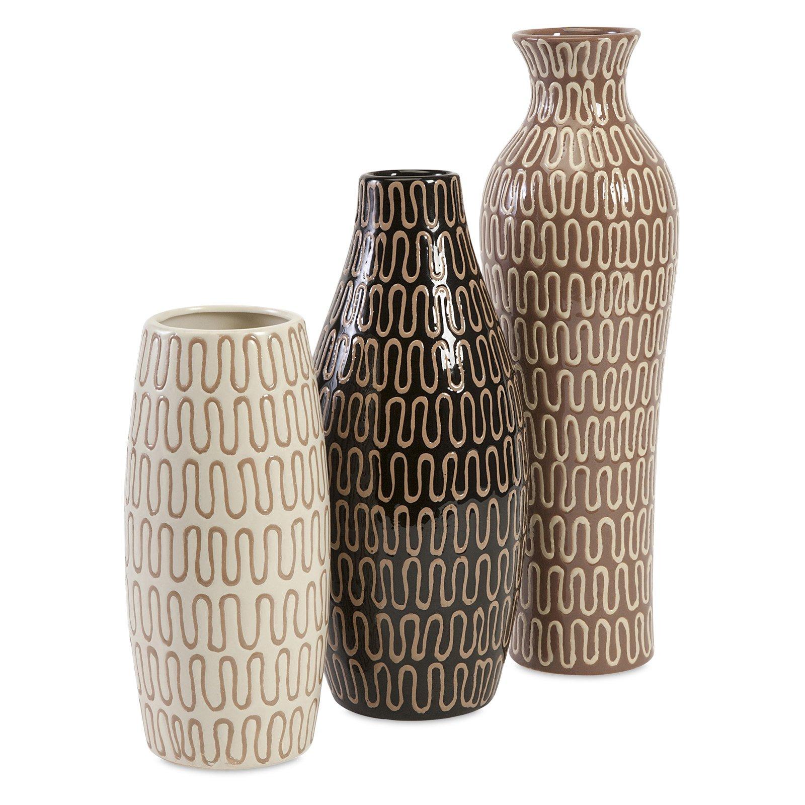 IMAX Tolek Vase - Set of 3