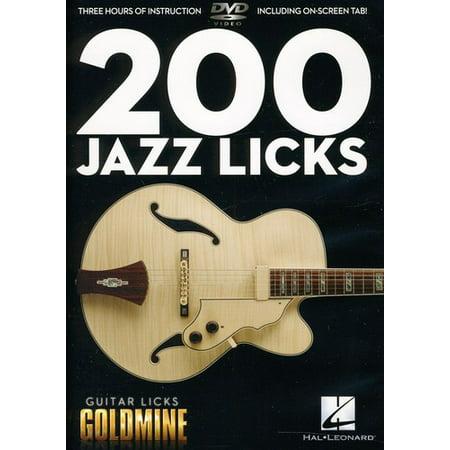 Guitar Licks Goldmine: 200 Jazz Licks (DVD) Dvd Guitar Lick Library