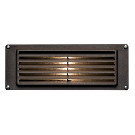 Aluminum 12 Volt Outdoor Step - Hinkley Lighting H1594 12v 12w Die-Cast Aluminum Louvered Brick / Step Light