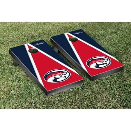 University of Houston Cougars Regulation Cornhole Game Set Logo Triangle Wooden - University Of Houston Logo