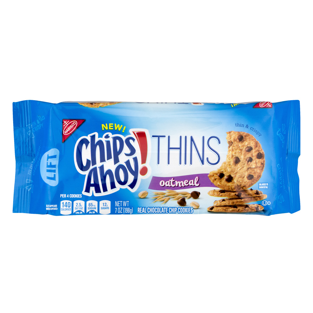 (2 Pack) Chips Ahoy! Thins Oatmeal Cookies, 7 oz