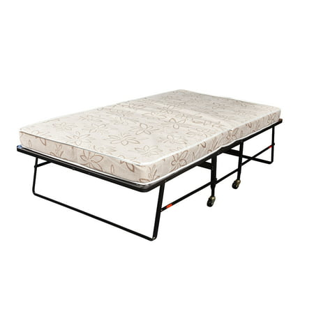 Hollywood Rollaway Bed Fiber Mattress, Foldable with Wheels,Twin Folding Rollaway Bed Frame