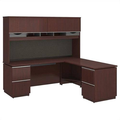 Bush Bbf Milano2 72 Quot Left L Shaped Desk With Hutch In