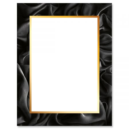 Silk Sheets Letter Papers-25 Sheets of colorful, One-Sided Framed Letter Paper for Newsletters, Announcements, and Invitation ()