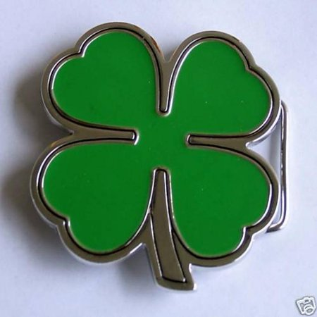 Irish Four Leaf Clover Belt Buckle