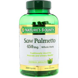 Nature's Bounty, Saw Palmetto, 450 mg, 250 Capsules (Pack of 2)](City Of Palmetto)