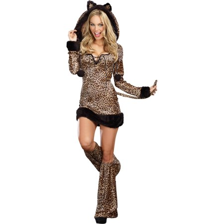 Cheetah Print Costumes (Cheetah Luscious Women's Adult Halloween)