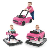 Bright Starts 3 Ways to Play Ford Mustang Baby Walker with Activity Station