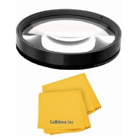 High Definition 10x Macro Close Up Lens (52mm) for Nikon Normal AF Nikkor 50mm f/1.4D Lenses + CT Microfiber Cleaning