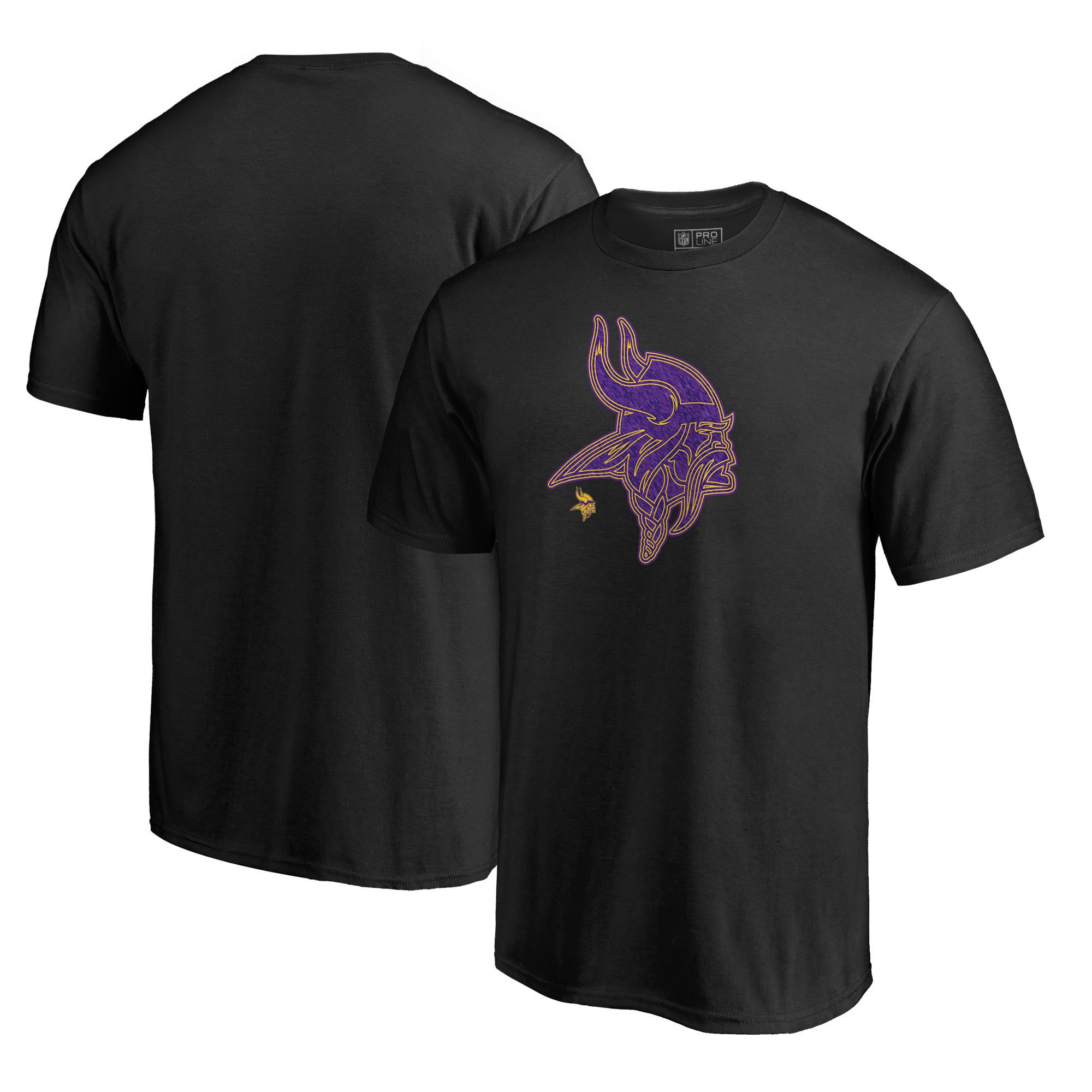 Minnesota Vikings NFL Pro Line by Fanatics Branded Training Camp Hookup T-Shirt - Black