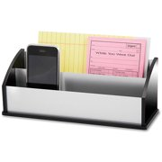 Kantek Letter and Message Organizer, Black Acrylic and Aluminum, 3.5 X 10.25 X 4 inches