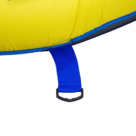 SwimWays Kelsyus Big Nauti Elite 4 Person Inflatable Float Raft, Yellow and Blue - image 1 of 4