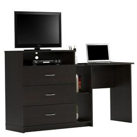 Ameriwood Parsons Desk With Drawer Black Finish Walmart Com