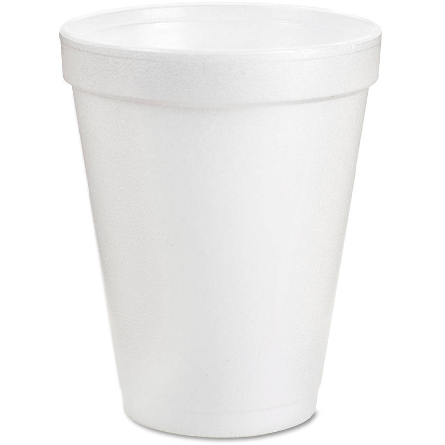 Dart Drink Foam Cups, 8 oz, White, 1000 ct