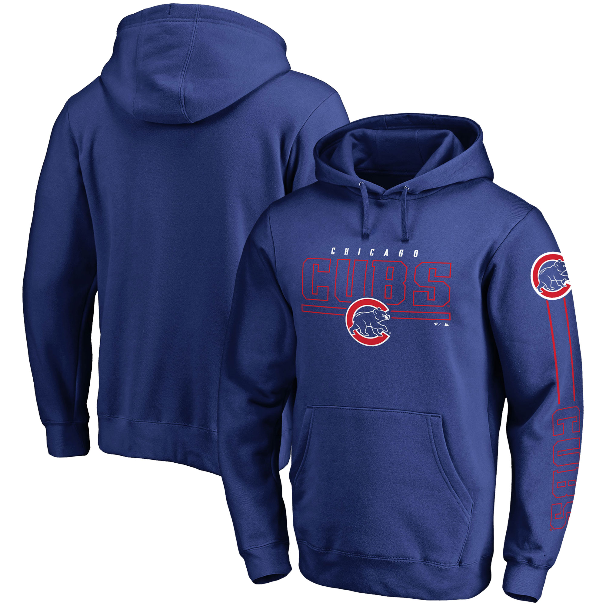 Chicago Cubs Fanatics Branded Front Line Pullover Hoodie - Royal