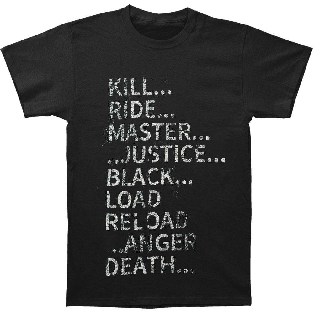 Metallica Men's  Black Album Text T-shirt Black