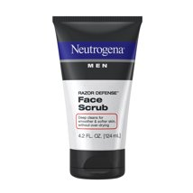 Facial Cleanser: Neutrogena Men Razor Defense Face Scrub