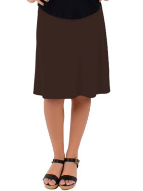 Knee Length A-Line Flowy Skirt | Comfortable Clothes for Women and Girls | Child Small - Adult 5X
