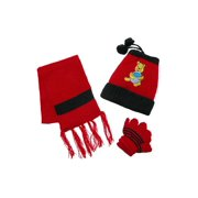 Kid's Character Bear Hat Scarf and Gloves on a String Set, Size: one size