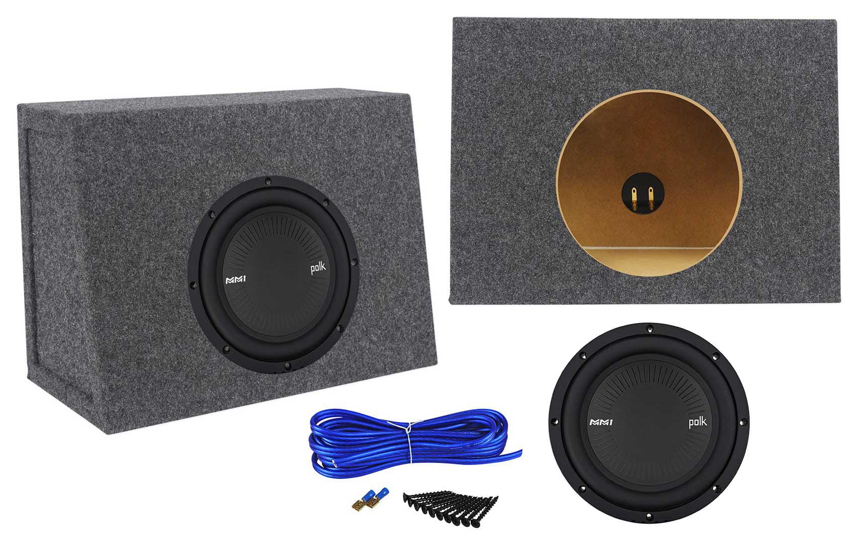 Polk Audio Mm842dvc 8 900w Dvc Car Subwoofer Sub Sealed Wiring Kits Box Enclosure