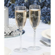 Darice Bride Groom Twisted Champ. Glasses