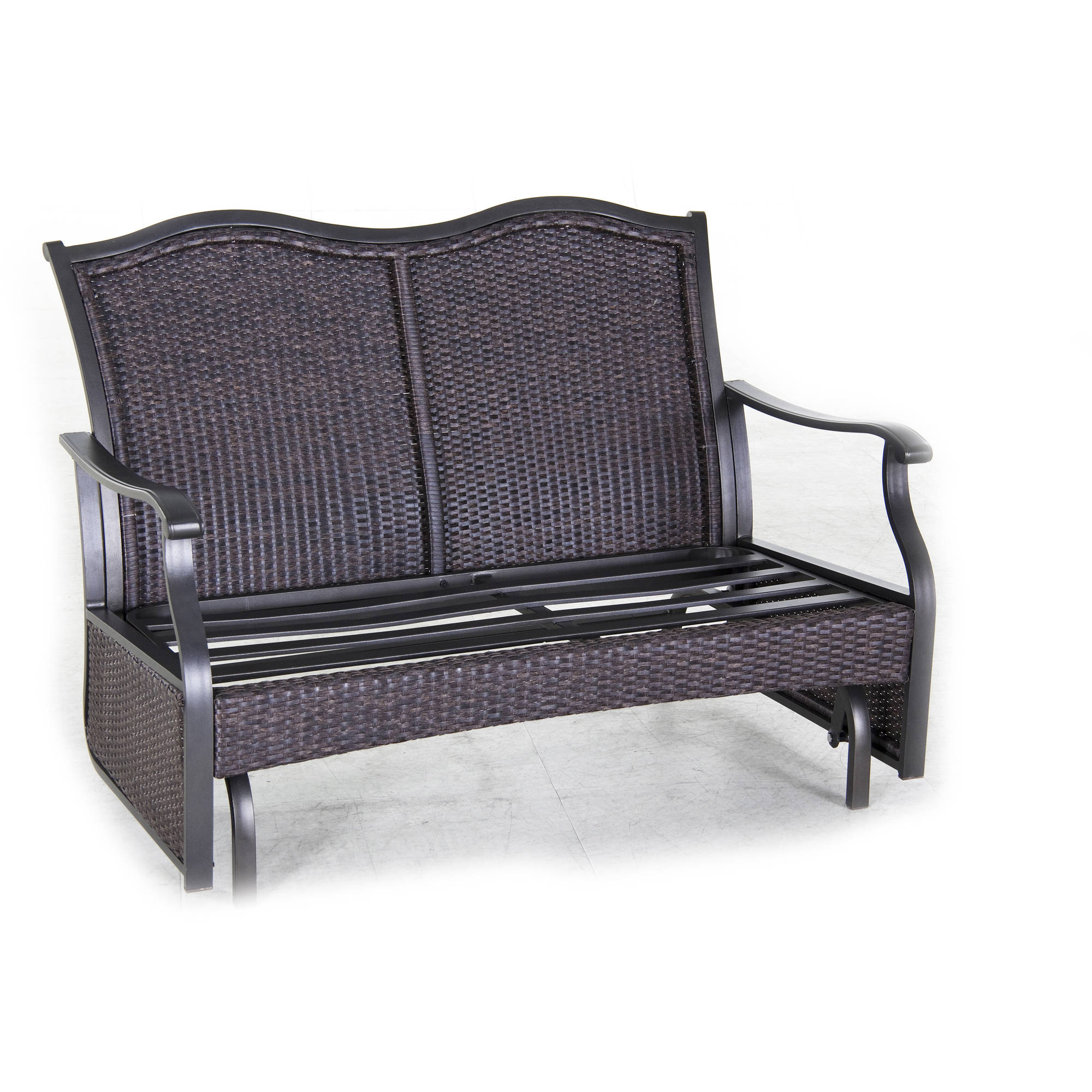 maintenance poly brown bench weatherwood gliders free glider lawn porch chestnut furniture shipping plain outdoor
