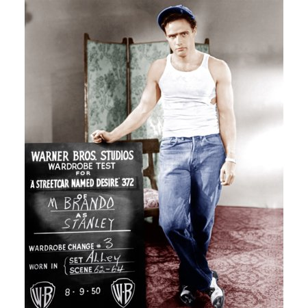 A Streetcar Named Desire Marlon Brando Poses For Wardrobe Test 1951 Photo Print