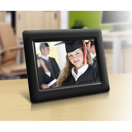 "Aluratek 7"" Digital Photo Frame with Auto Slideshow (800 x 600 resolution)"