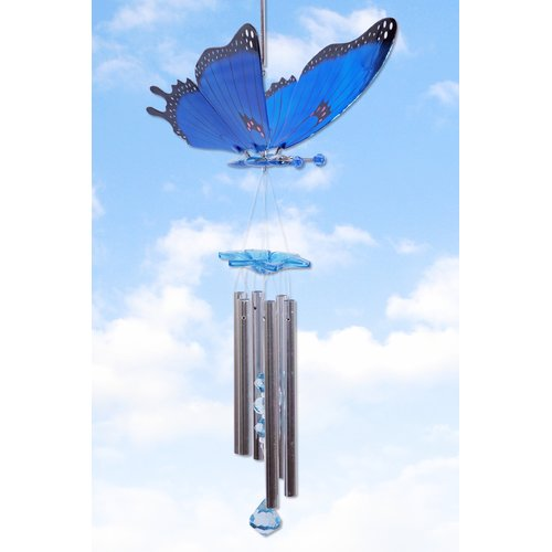Exhart WindyWings Butterfly Wind Chime