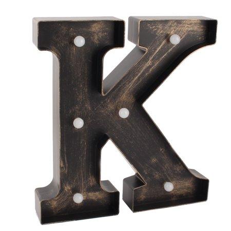 Livingroom Plastic English K Letter Alphabet DIY Hanging  Light Bronze Tone (English Bronze Hanging)