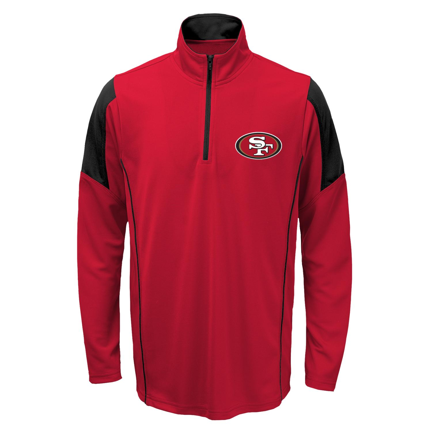 San Francisco 49ers Youth NFL Lightweight 1/4 Zip Pullover Long Sleeve Shirt
