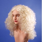Star Power Super Curl Long Curly Fantasy Woman Wig, Blonde, One Size